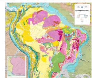 Presentación del Mapa Geológico de Suramérica a escala a 1:5M en las reuniones de la Comisión del Mapa Geológico del Mundo