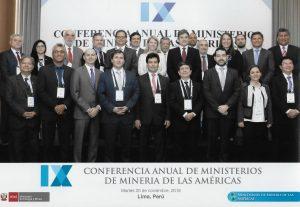 (Español) PARTICIPACIÓN DE ASGMI EN LA IX CONFERENCIA ANUAL DE MINISTERIOS DE MINERÍA DE LAS AMERICAS -CAMMA-
